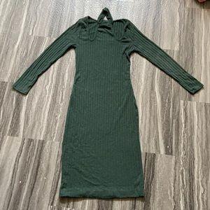 Green Charlotte Russe Midi Dress